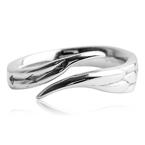 MF.CHAMA - Anillo para mujer, plata 925, ajustable, diseño de cisne