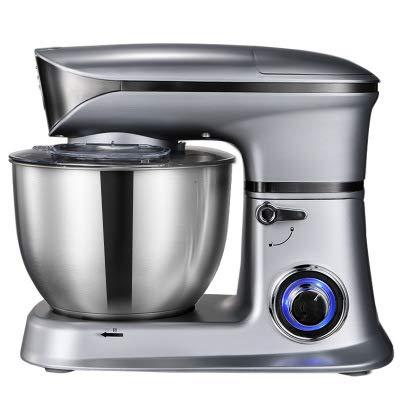 Optimale keukenmachine, 1300W mixer met 6.5L roestvrijstalen mengkom, keukenmixer gardeegmachine, broodmixermachine,Gray