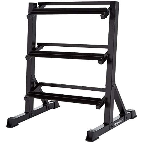 AmazonBasics, scaffale per pesi, con 3 ripiani - 81 x 61 x 91 cm, Nero