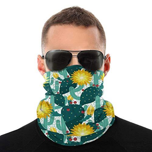 N/W Cacti Face mask reusable washable cloth turban women men neck apron cover ear ring black