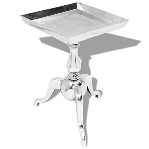 vidaXL Beistelltisch Couchtisch Tisch Aluminium Silber Barock Industrie Design