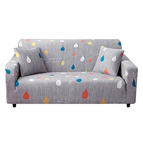 WXQY Funda de sofá elástica Funda de sofá elástica Modular Funda de sofá de Sala de Estar Funda de sillón en Forma de L Funda de sofá Antideslizante A15 4 plazas