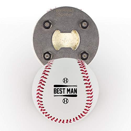 Best Man Baseball-Geschenk, aus einer echten Baseball, die baseballopener, Cap Catcher, Kühlschrank Magnet