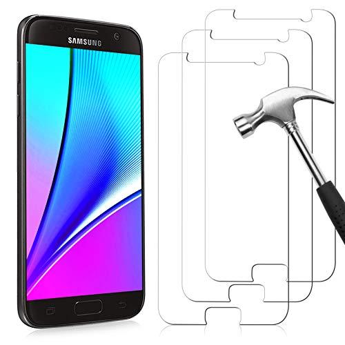 NONZERS Pellicola Protettiva per Samsung Galaxy S7 Vetro Temperato, [3 Pezzi] 9H Durezza Anti Graffio, Senza Bolle Anti-Impronte, Protezione Schermo Screen Protector Pellicola per Samsung Galaxy S7