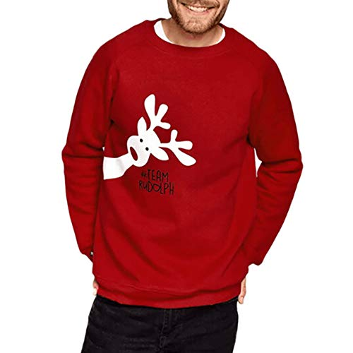 FRAUIT Kerstmis familie gebreide trui ronde hals T-shirt baby schattig lange mouwen hert print top blouse