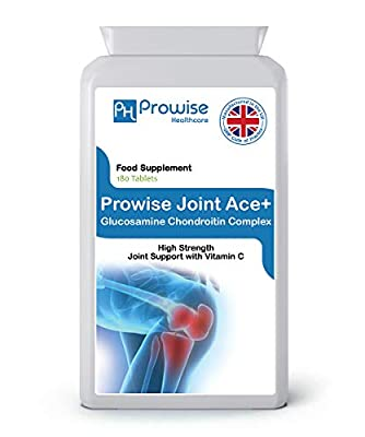 Glucosamine 500mg & Chondroitin 400mg Tablets - Builds Cartilage, Supports Joint Health - High Strength Support with Vitamin C, Joint Pain Relief, Muscle growth, Bones Treatment, Muscle Pain Relief - Supports Joint Care & Improves Arthritis - UK MADE