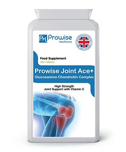 Joint Ace + Glucosamine Chondrotin Complex 500 mg / 400 mg met vitamine C 180-tabletten - VK vervaardigd volgens GMP-gegarandeerde kwaliteit - door Prowise Healthcare