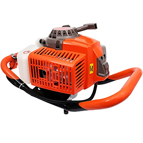 Tolsous 63cc Post Hole Digger Auger Petrol Drill Bit Fence Earth Borer 2 Stroke Power Engine Planting Machine for Planting/Construction