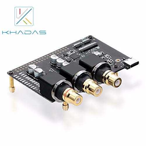 Khadas Tone Board Hi-Res Audio USB DAC Based in Chip 32-bit ES9038Q2M XMOS XU208 External Sound Card with S/PDIF Input Bundle with Acylic Case(Generic Version)