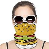 Cheeseburger Headwear Headband Multifunctional Scarf Bandana Face Mask for Women Men