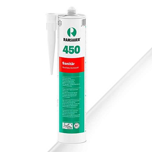 Ramsauer 450 Sanitär 1K Silikon Dichtstoff 310ml Kartusche (Transparent)