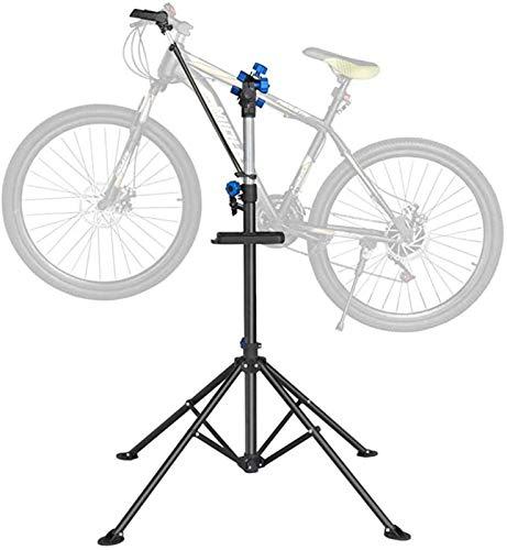 Fahrradmontageständer Reparaturständer Mit Werkzeugablage, Robuster Fahrradreparaturständer Bis 50 Kg Fahrrad Montageständer Inkl. Werkzeugschale + Magnetfach, 360° Drehbar Mountainbike
