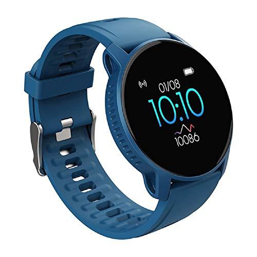 Reloj inteligente W9 para hombres y mujeres, rastreador de fitness con monitor de frecuencia cardíaca, modos de actividad deportiva, pulsera inteligente impermeable con pantalla táctil
