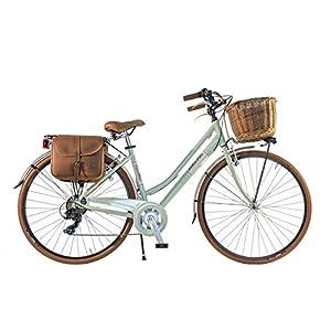 4167TzrW6JL. SS300 Canellini Via Veneto By Bicicletta Bici Citybike CTB Donna Vintage Retro Dolce Vita Alluminio Verde C