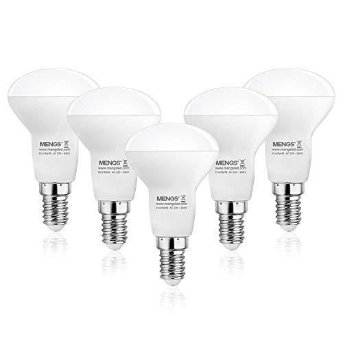 MENGS 5er Pack E14 R50 LED Reflektorlampen 5.5W LED Opal Strahler Ersetzt 40W Glühbirne 470LM Warmweiß 2700K Glühbirne AC 220-240V für Geschäfte, Büros, Arbeitsplätze, Wohnraumbeleuchtung
