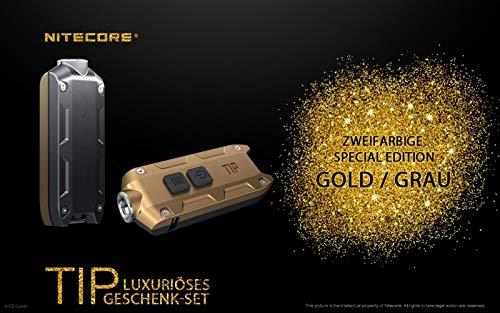 Nitecore TIP Winter Edition Coffret cadeau Or 360 lumens porte-clés lampe