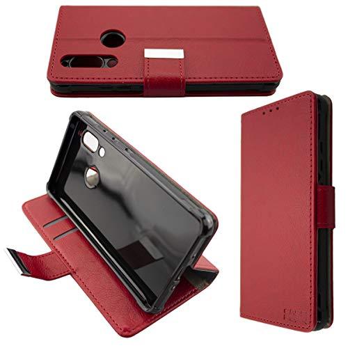 caseroxx Handy Hülle Tasche kompatibel mit Sharp Aquos D10 Bookstyle-Hülle Wallet Hülle in rot