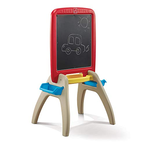 Product Image of the Step2 All Around Easel for Two, Red/Yellow/Tan