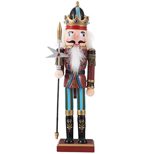 BESPORTBLE Weihnachten Nussknacker Figuren Puppe Soldaten Holz Dekofigur Weihnachtsfiguren Holzfiguren Weihnachtsschmuck Tischdeko Kuchendeko Geschenke Ornamente Xmas Deko Objekt