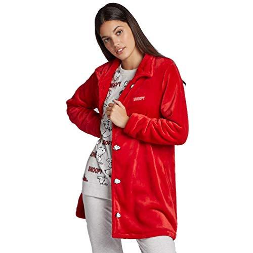 Bata Snoopy de Mujer (L, Rojo)