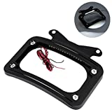 XFMT Curved License Plate Frame W/LED Light Compatible with Harley Street Glides...