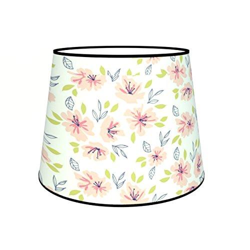 Abat-jours 7111308191444 Conique Imprimé Edith Lampadaire, Tissus/PVC, Multicolore
