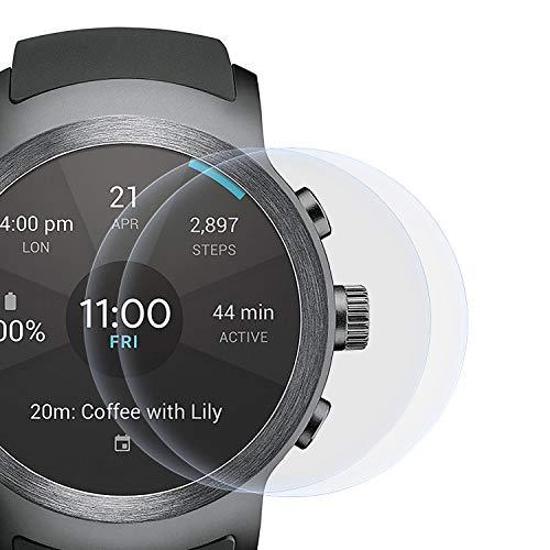 zanasta 2 Stück Schutzfolie kompatibel mit LG Watch Sport Bildschirmschutzfolie Nano Schutz Folie   Volle Abdeckung, Klar Transparent