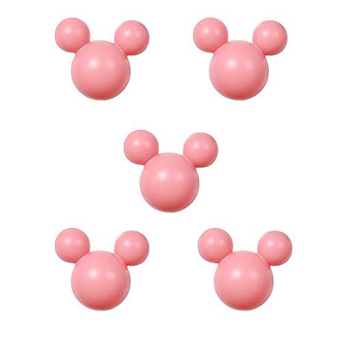アルファタカバ ディズニー ミッキー取っ手シリーズ ツマミつまみ 5個セット ピンク