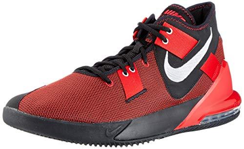 Nike Herren Air Max Impact 2 Basketball Shoe, Black/Metallic Silver-Gym Red, 43 EU