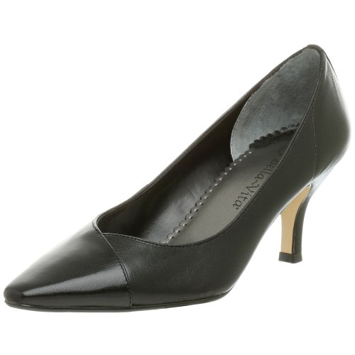 Bella Vita Women's Wow Mid-Heel Pump,Black,8.5M