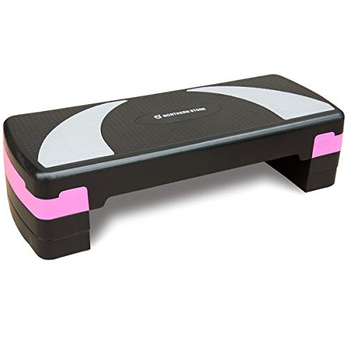 NORTHERN STONE Height Adjustable Aerobic Step with 10cm 15cm 20cm Heights Fitness Levels