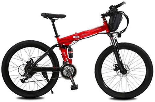 Bicicleta de montaña eléctrica, Bicicleta eléctrica plegable, 240W 21 Velocidad 26 pulgadas de bicicletas Electric City for Adultos con frenos batería extraíble de cercanías E-Bici doble disco Unisex