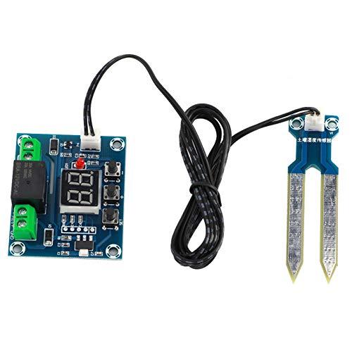 SALUTUYA Módulo Sensor de Control de Suelo Módulo de Control de Humedad del Suelo Módulo de Control de Suelo de relé Incorporado 10A Módulo de Control de Suelo Digital Rojo