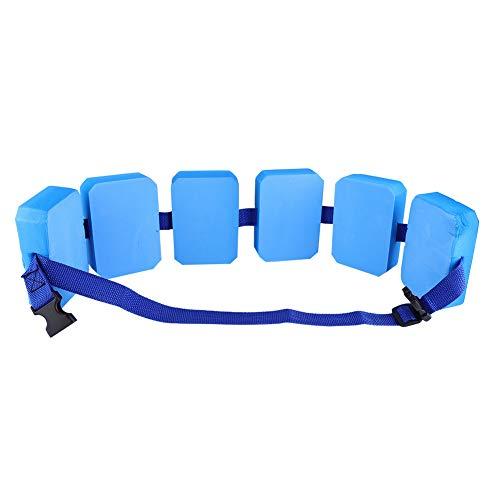 Weikeya Flotador salvavidas inflable ajustable, bomba de aire de bonificación con Eva (Negro+Azul)
