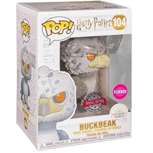 Funko POP! Harry Potter Buckbeak [Flocked] #104 Exclusive Bundled with PET Compatible .50mm Extra...