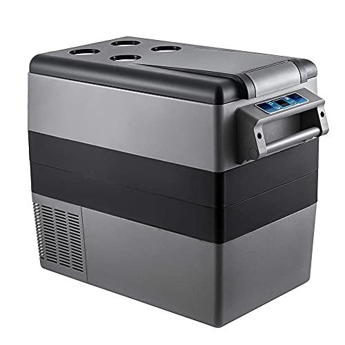 Yangyang Nevera Portátil 45L TermoeléCtrico Refrigerador de Coche 12V 24 a 220 AC Compresor de Nevera Automático vpara Hogar, Camping, Viajes, Automóvil