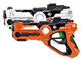 Laser Gun Set for Kids and Adults TG666 – Infrared Laser Tag Game for Boys & Girls (2 Blasters Included) – Cool Blaster Sounds with Optional 4 Team Multiplayer Selection by ThinkGizmos