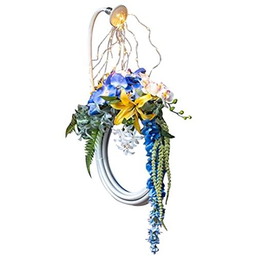YINLANG Fairy Light Wreath,Lighted Outdoor Garden Hose Wreath - Star Shower Garden Art Light Decoration , Watering Can, Fairy Lights Solar LED Garden Sculptures & Statues, String Lights