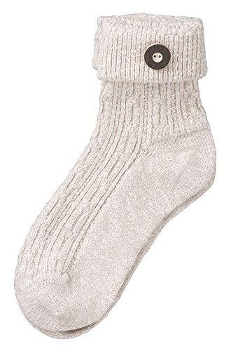 Wowerat Trachtensocke hell beige | Angenehmes Material mit Baumwolle | Strümpfe für Herren und Damen | Qualitäts-Trachtenstrümpfe (hellbeige, 39-42)