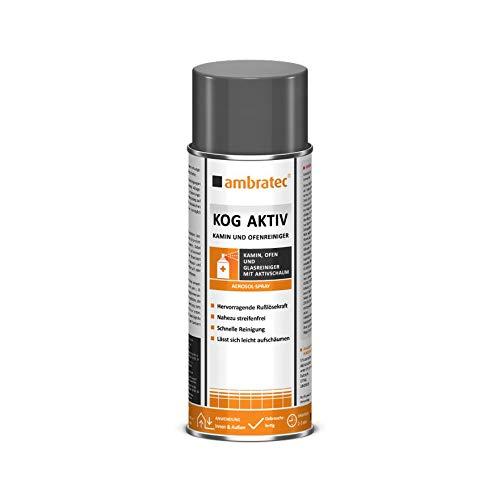Ambratec KOG - Limpiador activo para chimeneas y hornos con espuma activa para eliminar la suciedad persistente, limpiador multiusos, limpieza sin rayas