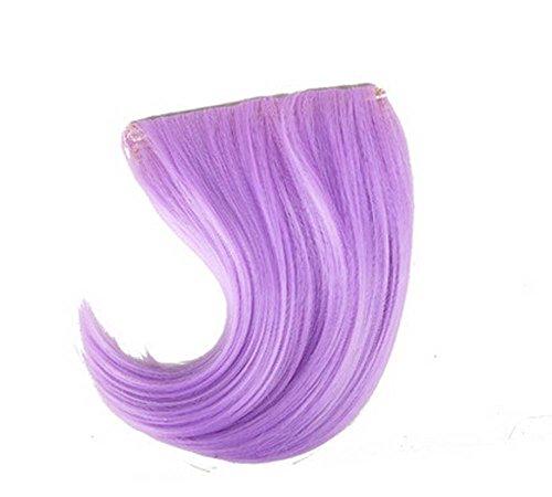 Colorful étape perruque, parti perruque, cheveux Bangs Perruques,Violet clair