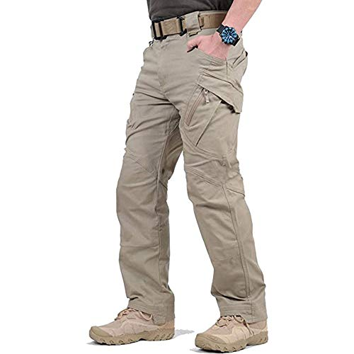 DEBND Men's Military Style Ski Trousers Tactical Water-Resistant Trousers Multi Pockets Mechanical Stretch Hiking Seasons Hiking Climbing Trousers