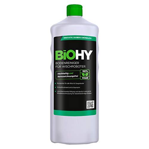 BiOHY Limpiador pisos para robots limpiadores (1 botella de 1 litro) | Concentrado para todos robot aspirador con función húmeda - sostenible y ecológico (Reiniger für Wischroboter)