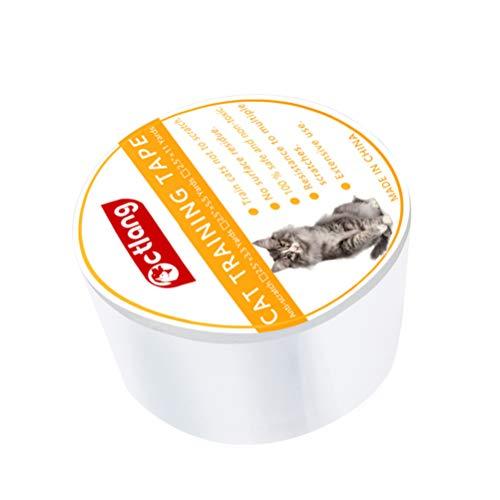 ledmomo ツメ傷保護シート 爪研ぎステッカー 家具保護テープ 粘着ステッカー ソファーシール 猫 爪とぎ防止 ソファ チェア 柱 壁 透明PVC (サイズM)