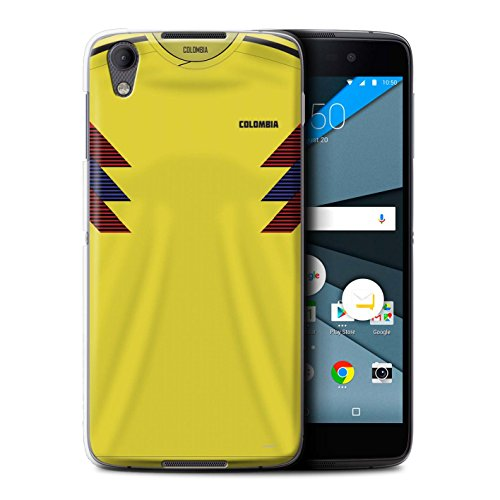 Stuff4®® Phone Case/Cover/Skin/BB-CC/World Cup 2018 Football Shirt Collection BlackBerry Neon/DTEK50 Columbiaans/Columbianen