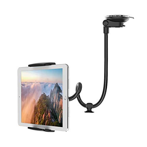 "[2020 Upgrade] 14"" Arm Car Holder for iPad Anti-Vibration 360 Degree Adjustable Tablet Holder for Truck/Van Windshield Car Phone Mount Long for 4-11"" Tablet/Mount"