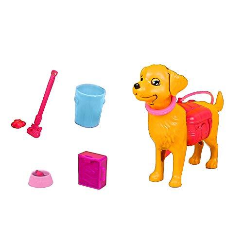 Daity Hund für Barbie Puppen 7pcs Hundespaziergang Spielset Puppen Zubehör Mädchen Spielzeug ab 3 Jahren