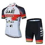 Maillots De Ciclismo Hombres Camiseta Y Pantalones Cortos De Ciclismo Conjunto De Ropa para Ciclismo Al Aire Libre (A-4,XXL)