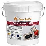 TECNO YESO RAPID de Tecno Prodist, (5 Kg) Yeso de fraguado rápido. Ideal para sujeción de marcos, reglas, cajas y tubos de conducción eléctrica.