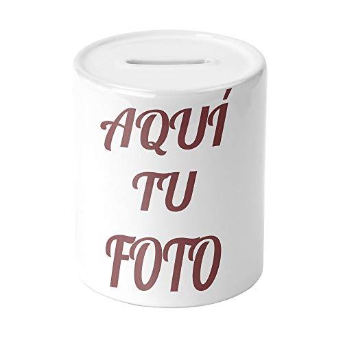 AR Regalos Hucha Personalizada de cerámica Blanca con Foto